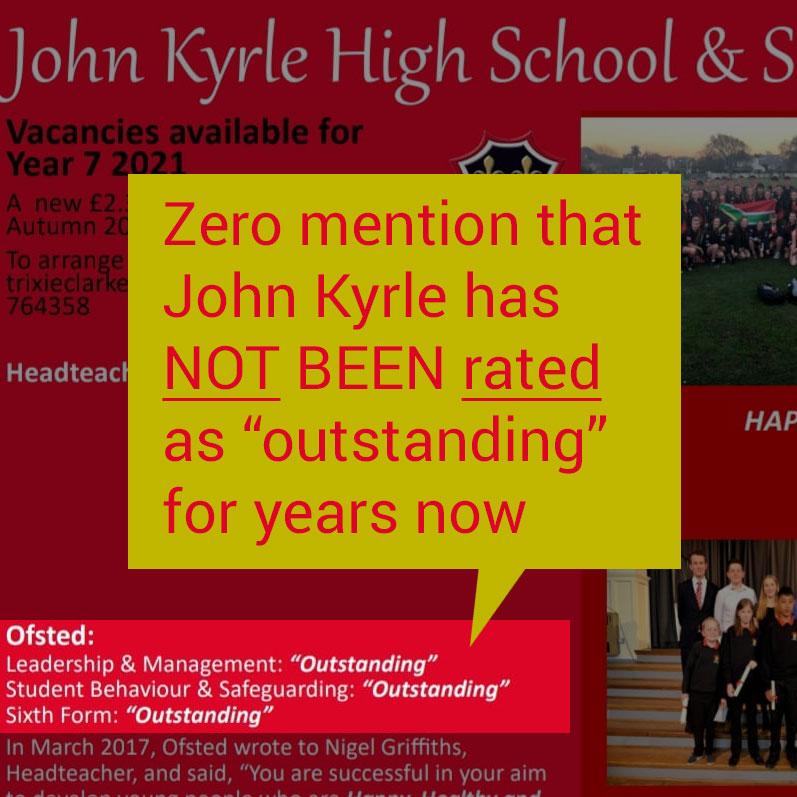 John Kyrle Ofsted rated Good NOT Outstanding